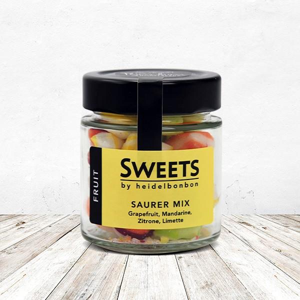 Bonbon Saurer Mix im Glas 100 Gramm