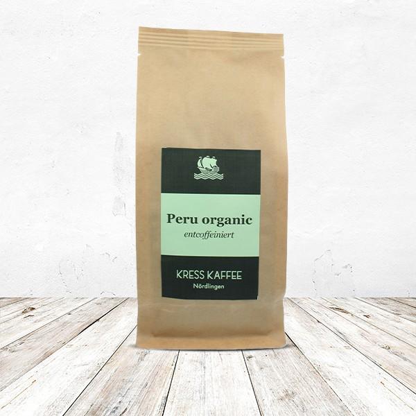 Kaffeebohnen Peru organic entkoffeiniert 250 Gramm