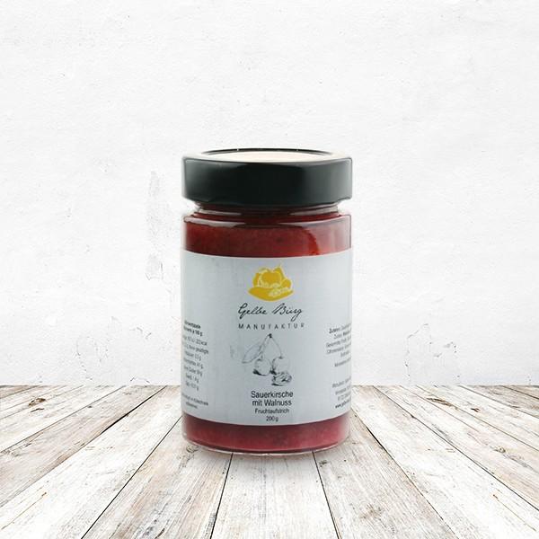 Fruchtaufstrich Sauerkirsche-Walnuss 200 Gramm